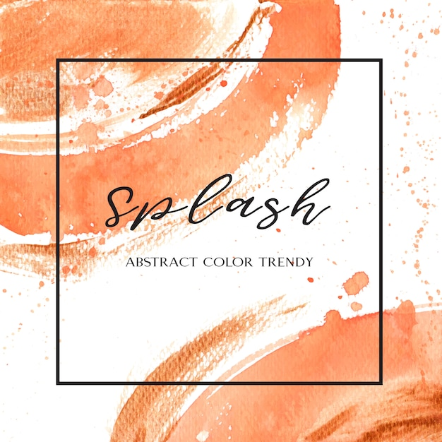 Couleur de corail trendy coquillage aquarelle et or texture de gouache Vecteur gratuit
