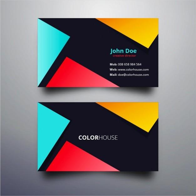 Couleur design de carte de visite moderne  Télécharger des Vecteurs gratuitement