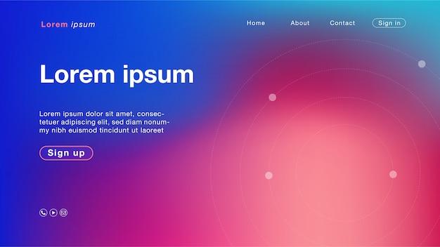 Couleur de fond abstrait bleu violet cercle pour page d'accueil Vecteur Premium