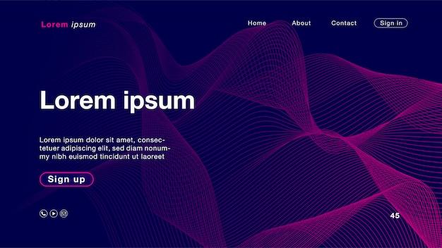 Couleur De Fond Abstrait Rose Bleu Courbe Pour Page D'accueil Vecteur Premium