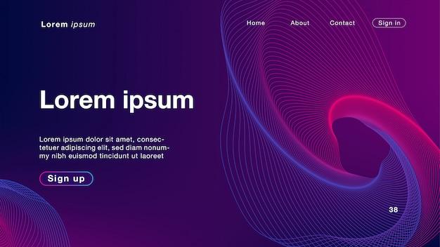 Couleur de fond abstrait rose mélange de lumière pour la page d'accueil Vecteur Premium