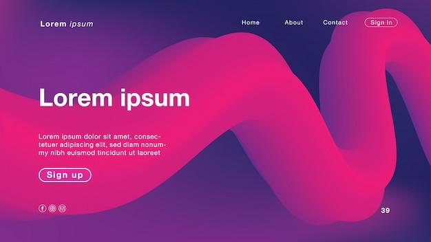 Couleur de fond abstrait violet et rose pour la page d'accueil Vecteur Premium