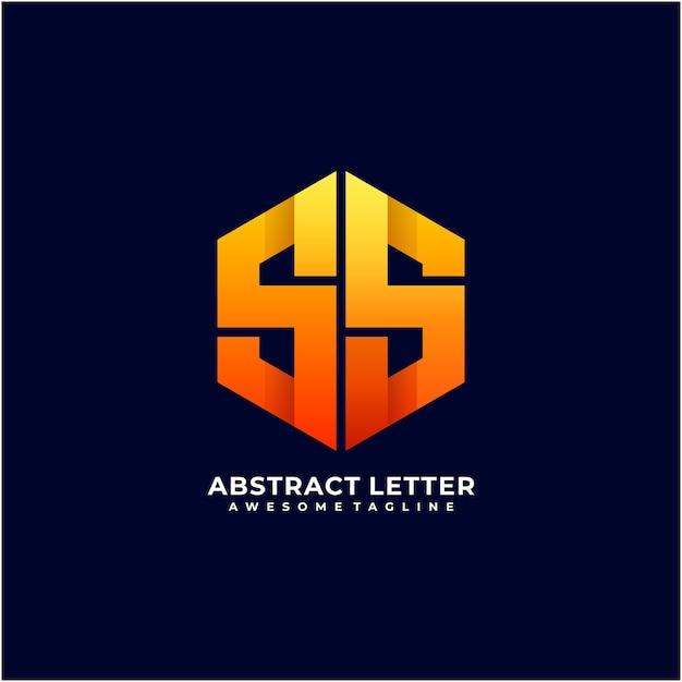 Couleur Moderne De Conception De Logo Abstrait Lettre Pentagone Vecteur Premium