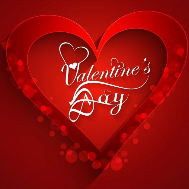 La Couleur Rouge Carte D Amour Avec La Forme De Coeur