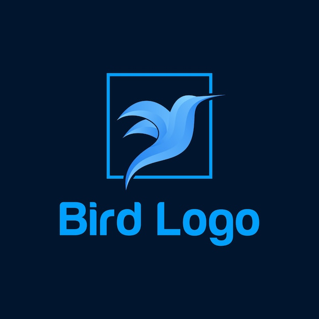 Couleur de vecteur logo oiseau Vecteur Premium
