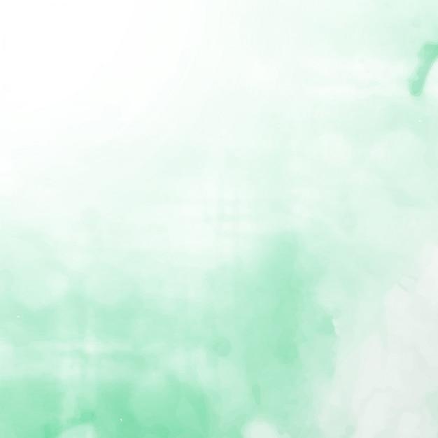 Couleurs de couleur vert clair fond d'aquarelle élégant Vecteur gratuit