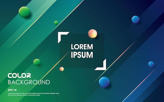Couleurs de dégradé de forme à la mode. design d'élément bleu et vert Vecteur Premium