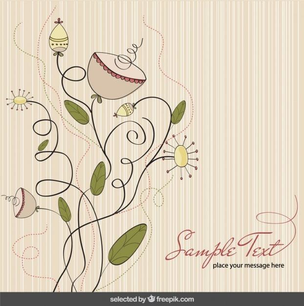 Les couleurs pastel floral background Vecteur gratuit