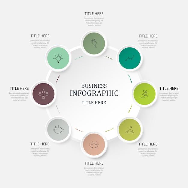 Couleurs vertes infographie Vecteur Premium