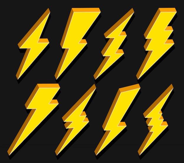 Coup de foudre électrique Vecteur Premium