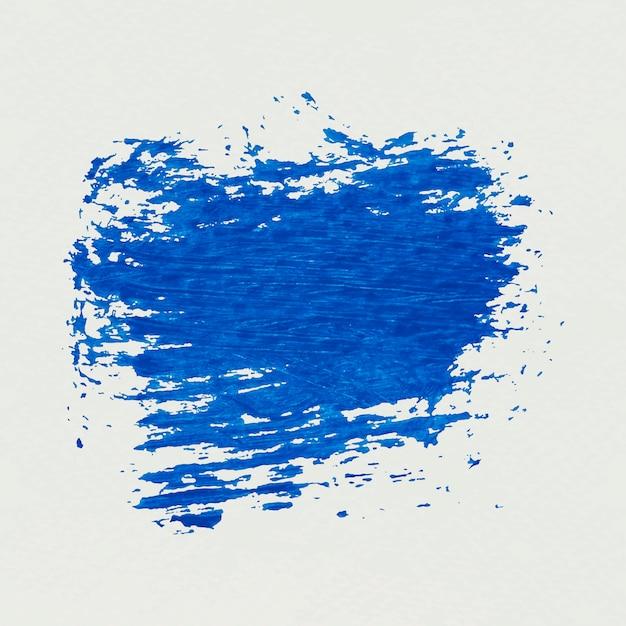 Coup de pinceau bleu Vecteur gratuit