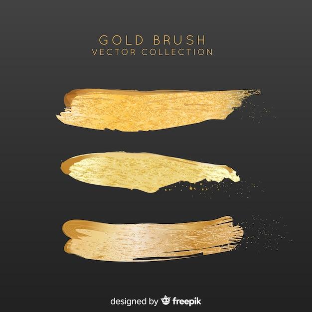Coup de pinceau doré Vecteur gratuit