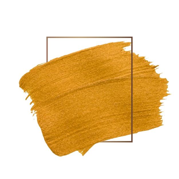 Coup de pinceau d'or Vecteur gratuit
