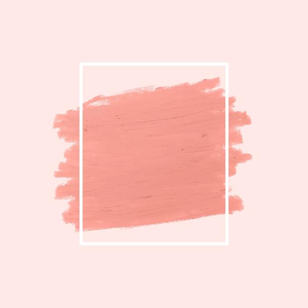 Coup de pinceau rose Vecteur gratuit