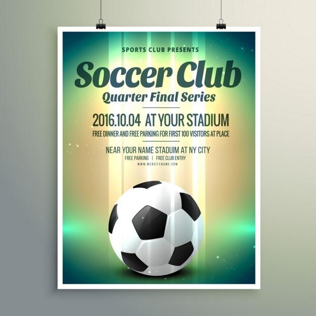Coupe de football série finale flyer template Vecteur gratuit