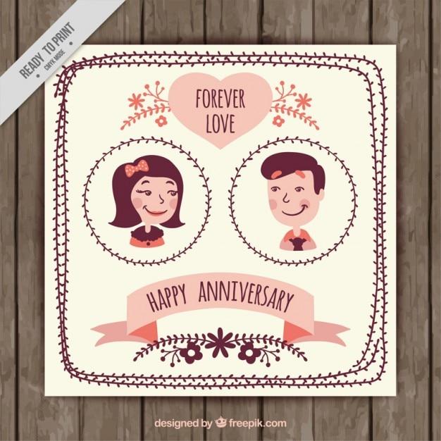 Top Couple Vintage Invitation anniversaire   Télécharger des Vecteurs  PT58