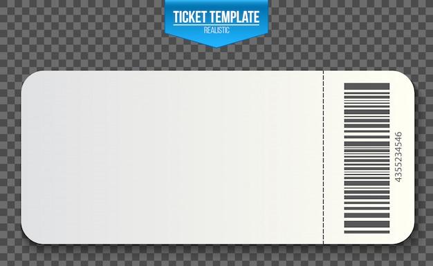 Coupons d'invitation de modèle de billet vide. Vecteur Premium