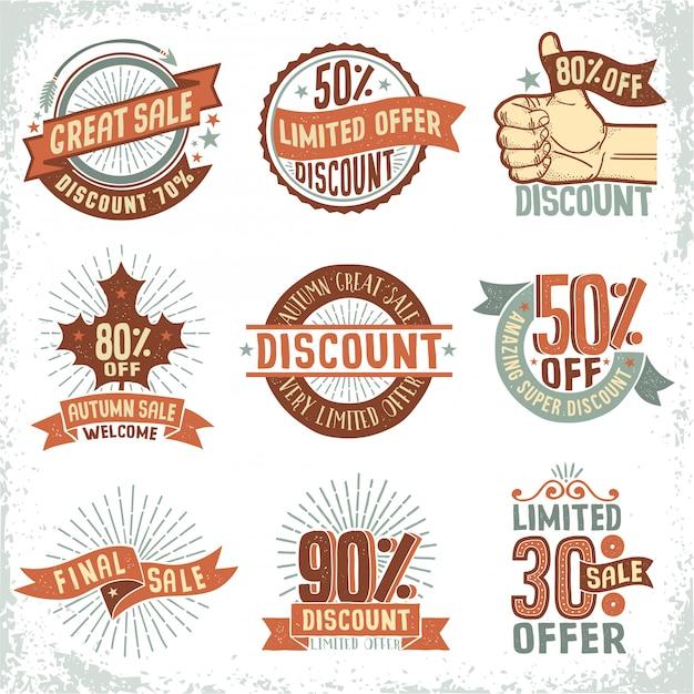 Coupons de vente Vecteur Premium