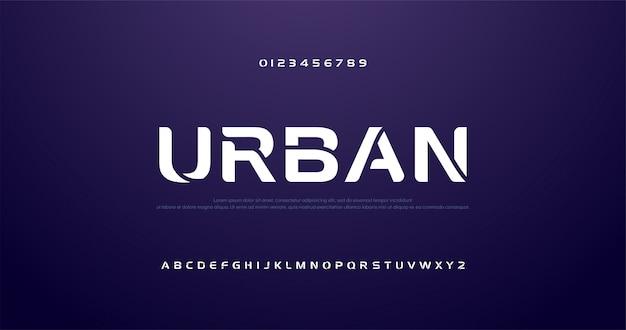 Courbe Sportive Future, Polices Alphabet Moderne Vague Vecteur Premium
