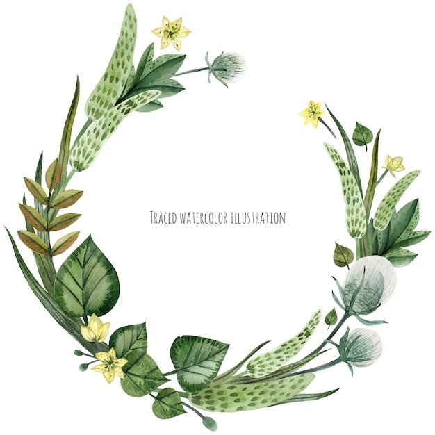 Couronne de plantes sauvages Vecteur Premium