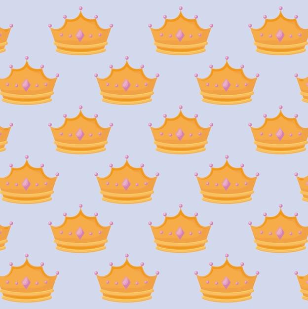 Couronne De Reine Avec Motif De Pierres Précieuses Vecteur gratuit