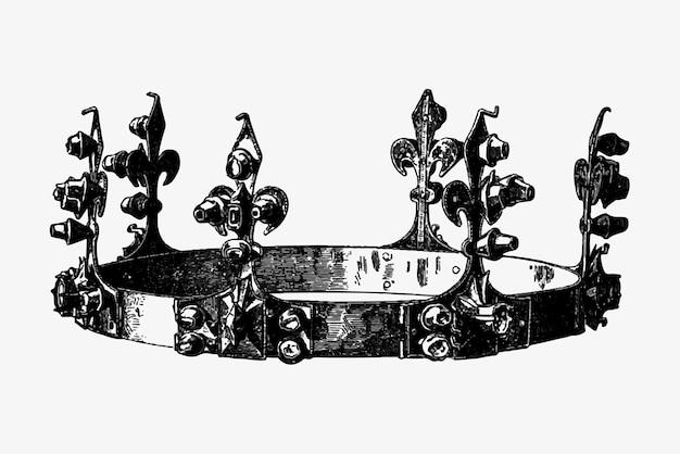 Couronne royale antique Vecteur gratuit