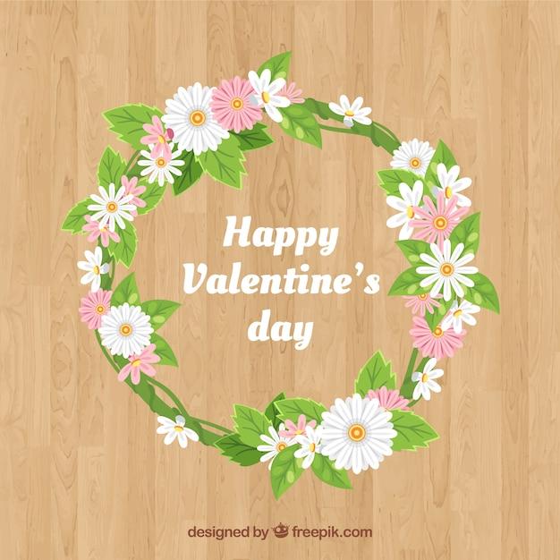 Couronnes Et Bouquets De Fleurs Saint Valentin Vecteur gratuit