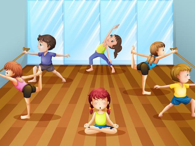 Cours De Ballet Vecteur gratuit