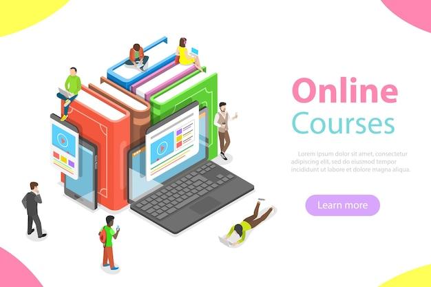 Cours En Ligne, éducation, E-learning, Webinaire, Formation Vecteur Premium