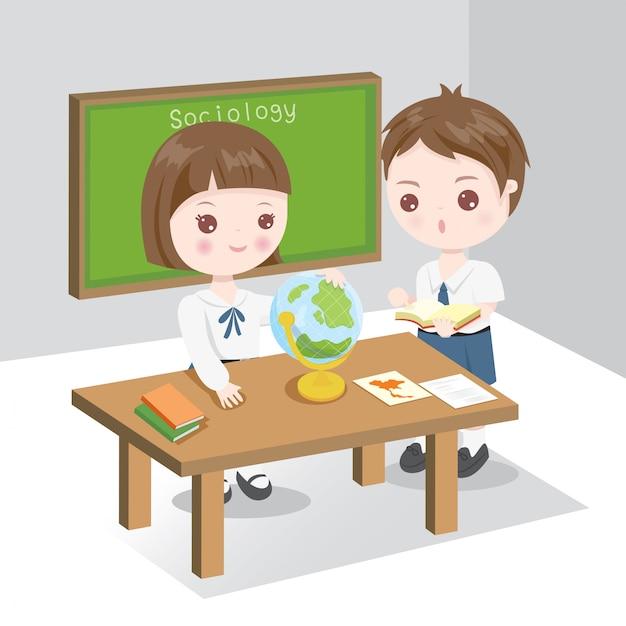 Cours de sociologie Vecteur Premium