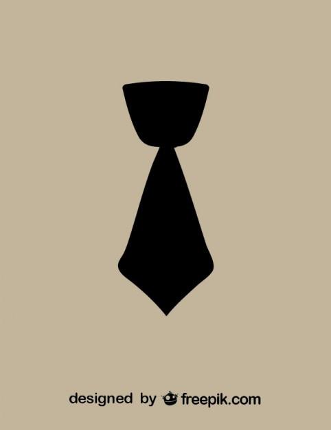 Courte Cravate Icone Noire Telecharger Des Vecteurs Gratuitement