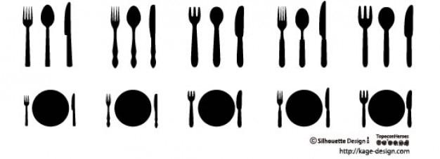 Couteau Et Fourchettes Vecteur gratuit
