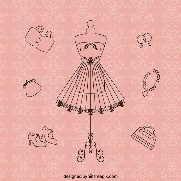 Couture vintage Vecteur gratuit