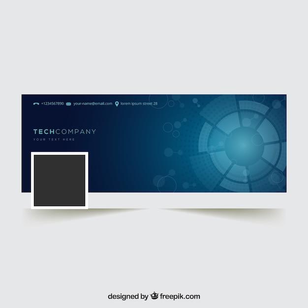 Couverture abstraite de facebook pour les entreprises Vecteur gratuit