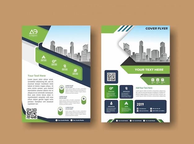 Couverture abstraite et mise en page pour la présentation et le marketing Vecteur Premium