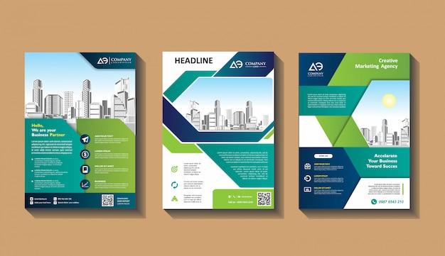 Couverture Abstraite Et Mise En Page Pour Présentation Et Marketing Vecteur Premium