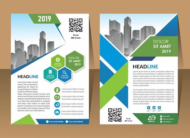 Couverture affiche brochure flyer design template vecteur Vecteur Premium