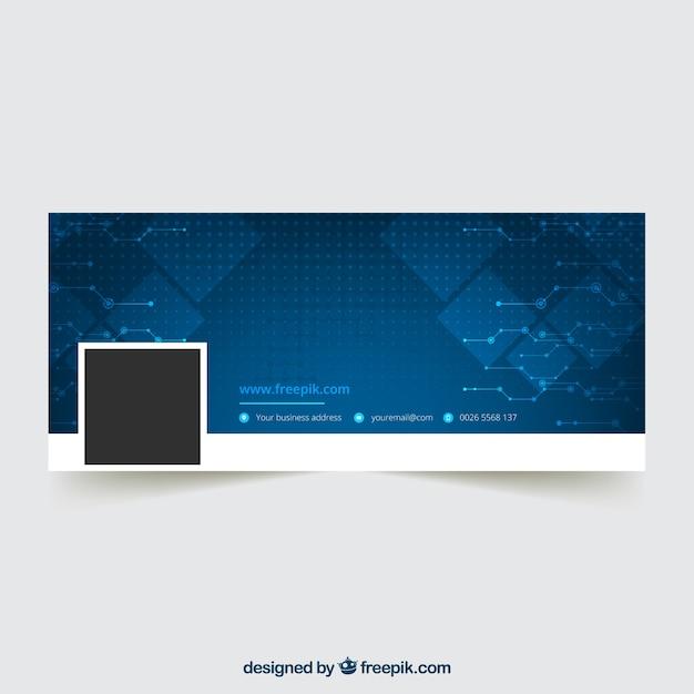 Couverture bleue abstraite de facebook Vecteur gratuit