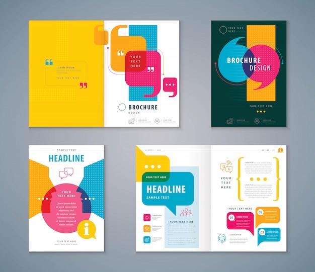 Couverture Book Design Set Vecteur Premium