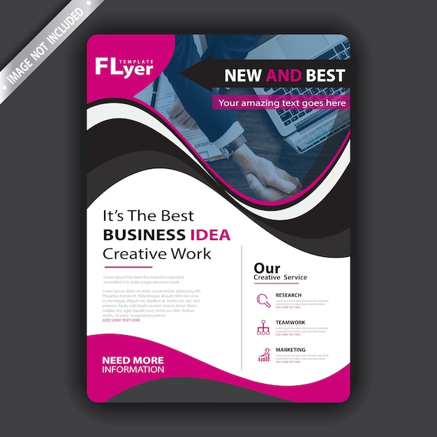 Couverture de la brochure Vecteur gratuit
