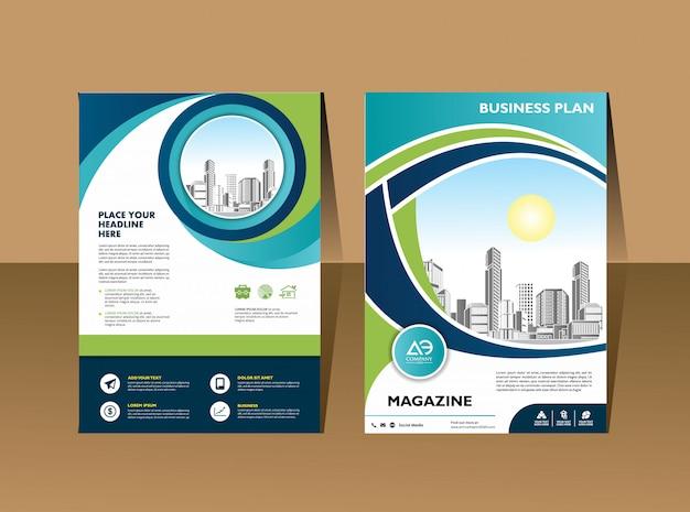 Couverture catalogue brochure magazine pour rapport annuel Vecteur Premium