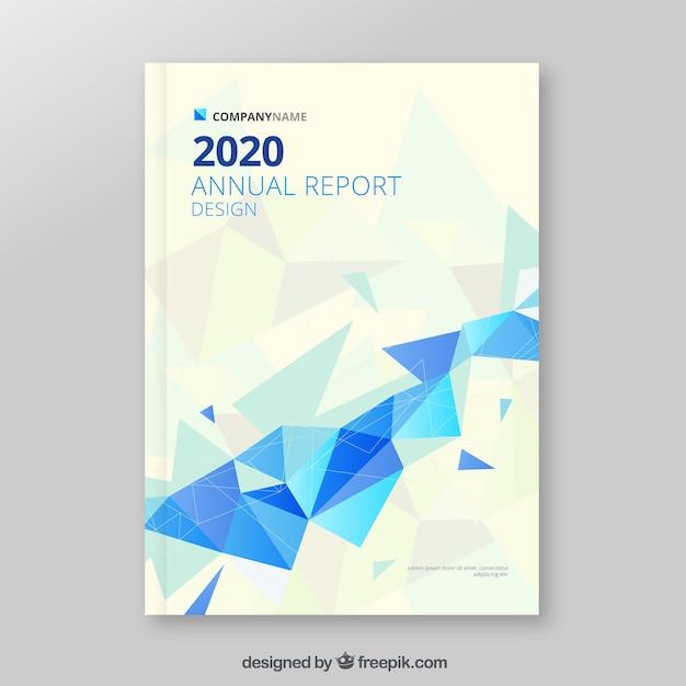 Couverture du rapport annuel polygonal Vecteur gratuit