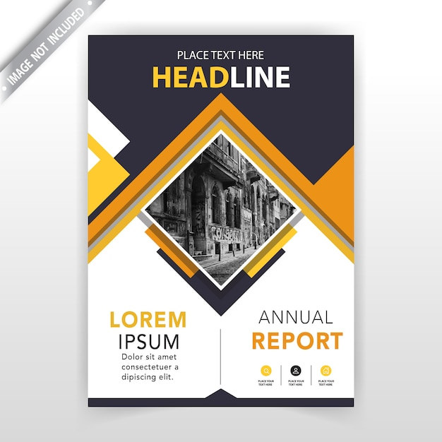 Couverture du rapport annuel Vecteur gratuit