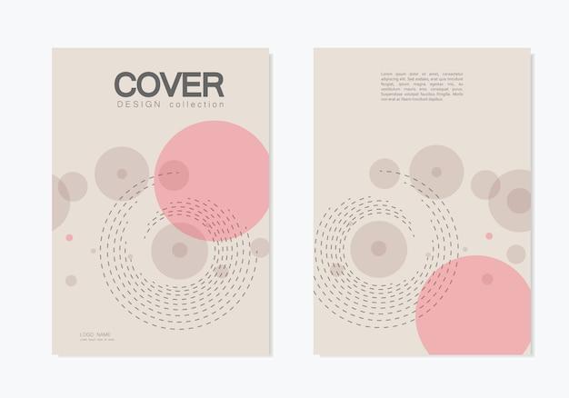 Couverture de l'entreprise de brochures avec cercle abstrait tourbillon Vecteur Premium