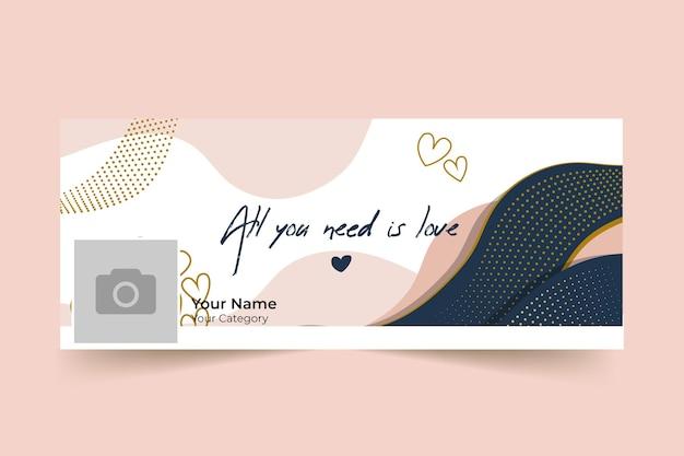 Couverture Facebook Abstraite élégante De La Saint-valentin Vecteur gratuit
