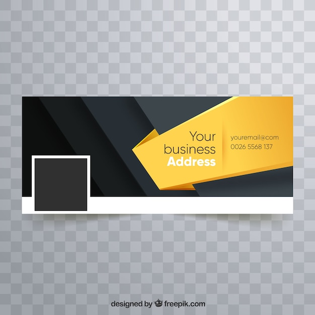 Couverture Facebook Corporative Moderne Vecteur gratuit