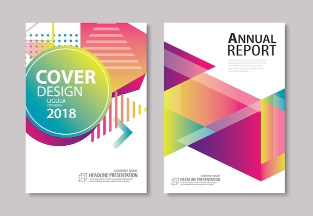 Couverture géométrique moderne abstrait et conception de brochure Vecteur Premium