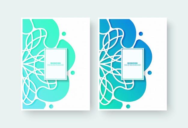 Couverture De Livre Dégradé Avec Motif Floral Vecteur Premium