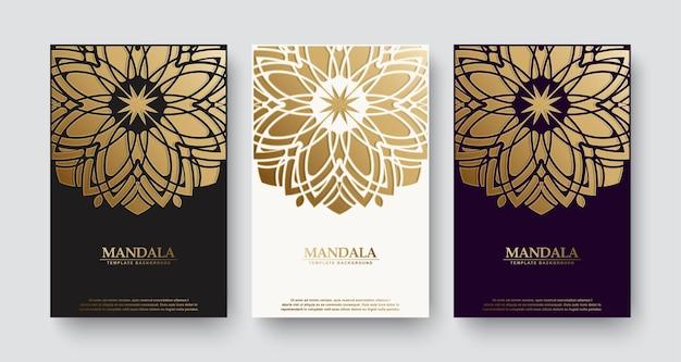 Couverture De Livre De Style Mandala De Luxe Vecteur Premium
