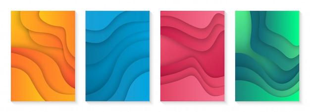 Couverture moderne avec dégradé coloré Vecteur Premium